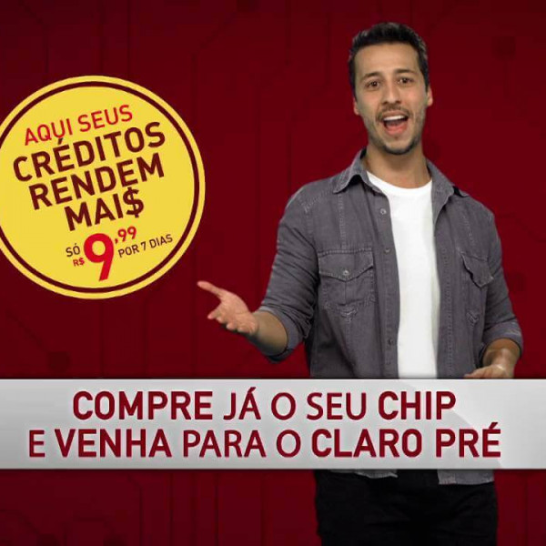Claro | Campanha promocional Claro Pré com Felipe Fonseca