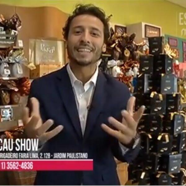 Felipe Fonseca apresenta a Páscoa Cacau Show.