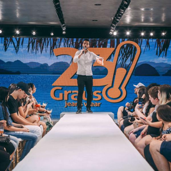 Felipe Fonseca apresenta a nova coleção Alto Verão 2020 da 23 Graus Jeans Wear.