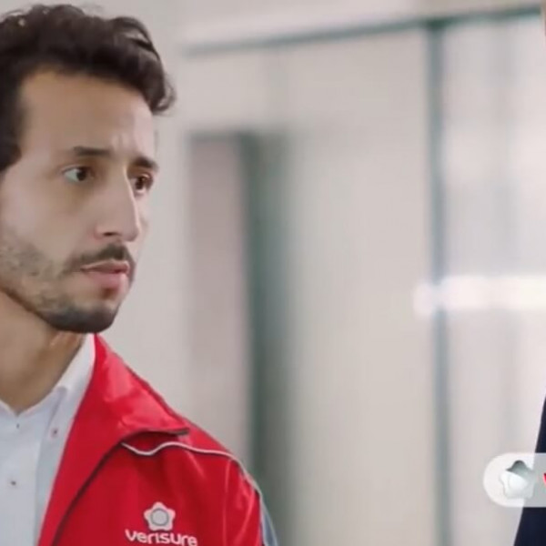 Felipe Fonseca como ator no novo comercial da Verisure.